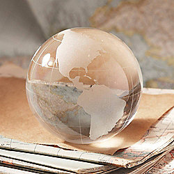Glass Globe Paperweight