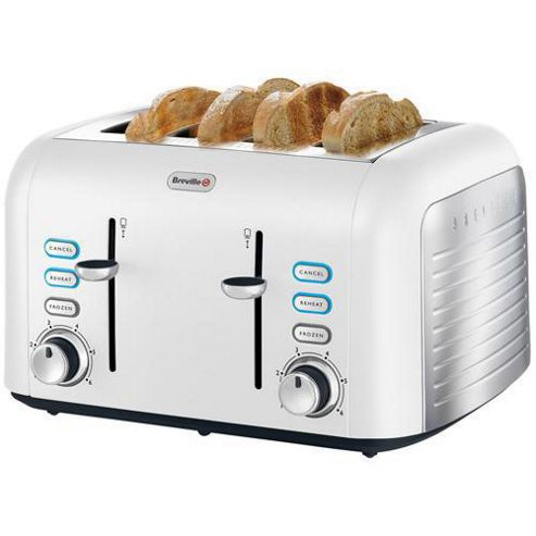 Breville VTT451 Opula Collection 4-Slice Toaster, Bone China White