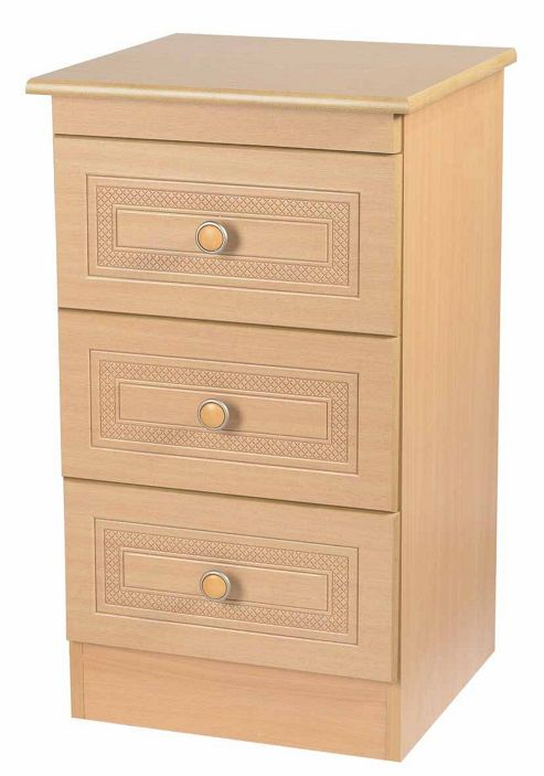 Welcome Furniture Corrib 3 Drawer Chest with Locker - Beech