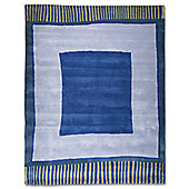 Anna V Rugs Big Blue Contemporary Rectangular Rug - 140cm x 180cm