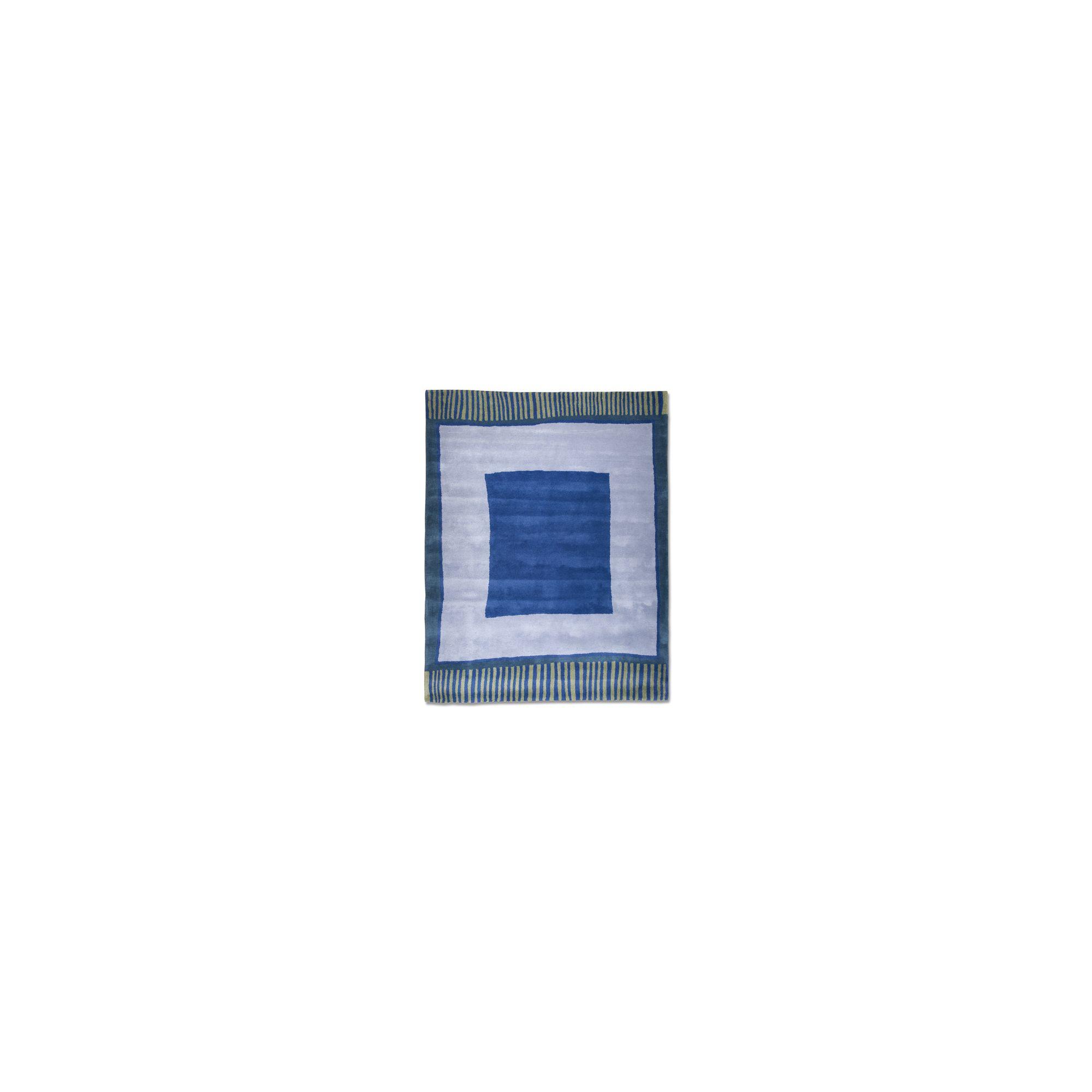 Anna V Rugs Big Blue Contemporary Rectangular Rug - 140cm x 180cm at Tesco Direct