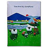 Thomas Joseph Tea Towel, Ewe Are My Sunshine Sheep Design