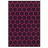 Angelo Loft Mauve Tufted Rug - 240cm H x 170cm W (7 ft 10.5 in x 5 ft 7 in)