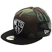 New Era Cap Co Camo Team Visor Brooklyn Nets Fitted Cap Size: 7 1/4 inch