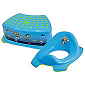 Disney Toy Story Toddler Toilet Training Seat & Step Stool Combo - Blue