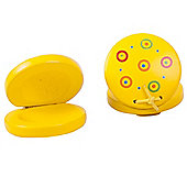 Bigjigs Toys Snazzy Castanets (One Pair - Yellow)