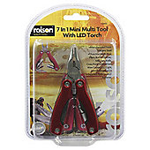 Rolson 7-in-1 Mini Multi Tool with LED Torch