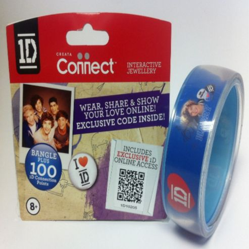 One Direction Official 1D Clear Bangle, Harry