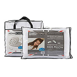 Homescapes Kids 4.5 Tog Goose Feather Duvet & Pillow Set