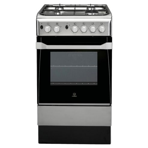 Indesit IS50G1(XX) Stainless Steel Gas Cooker, Single Oven