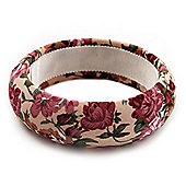Floral Fabric Bangle Bracelet -18cm Length