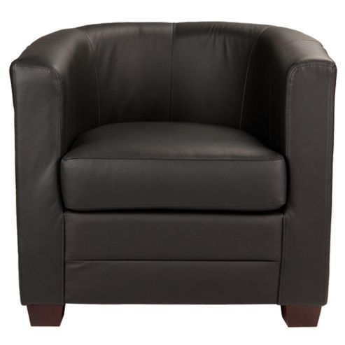 Lana Leather Accent Chair Black