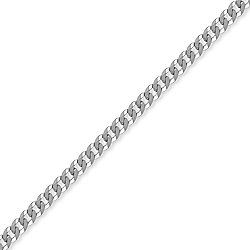 Sterling Silver 4mm Gauge Chain Curb Bracelet - 8.5 inch Gents
