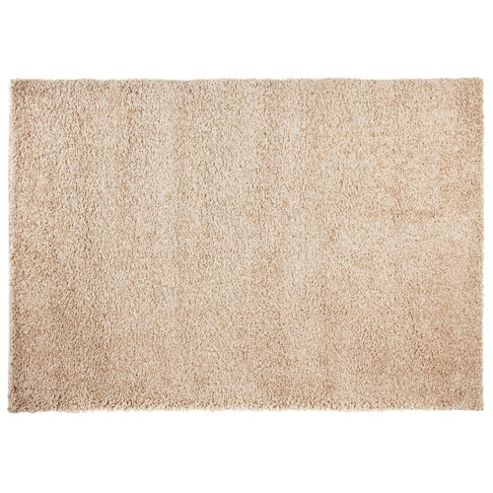 Tesco Alpine Shaggy Rug Cream 80X150Cm