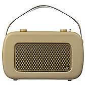 Kitsound Jive DAB/FM Radio Cream/Gold