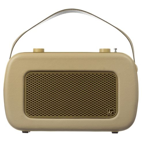 buy kitsound jive dab fm radio cream gold from our portable speakers range. Black Bedroom Furniture Sets. Home Design Ideas