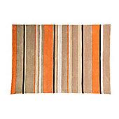 Infinite Inspire Broad Stripe Oblong Orange Rug - 120X170 cm
