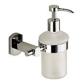 Gedy Edera Frosted Glass Soap Dispenser in Chrome