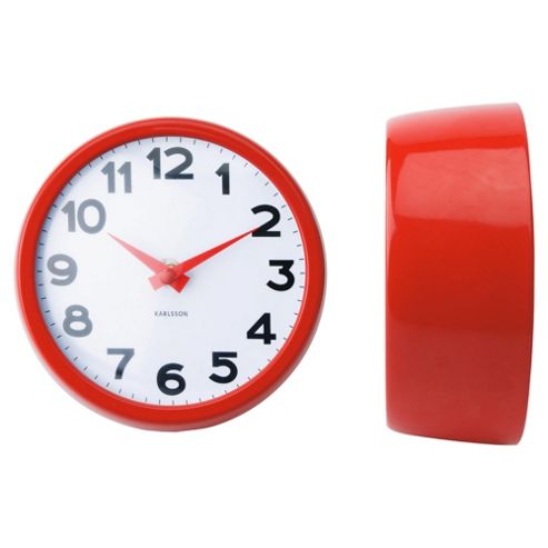 Karlsson Never Out Of Style Wall Clock - Red