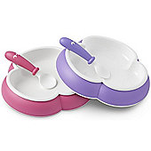 BabyBjorn Plate and Spoon 2 Pack (Pink/Purple)