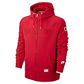 2014-15 England Nike AW77 Full Zip Authentic Hoody (Red) - Red