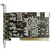 Dynamode 5 Port (4+1) PCI USB and Firewire Interface Card
