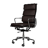 Eames EA219 Inspired High Back Soft Pad Dark Brown Leather Office Chair
