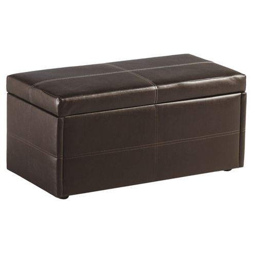 Home Essence Northcote Ottoman in Expresso Brown PVC