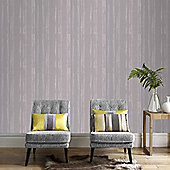 Graham & Brown Laddered Stripe Wallpaper - Soft Grey