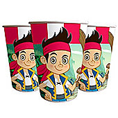 Jake & Neverland Pirates Cups - 200ml Paper Party Cups, Pack of 8