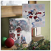 Tesco Fun Santa Christmas Cards, 10 Pack