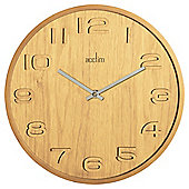 Acctim Reece Contemporary Wood Effect Wall Clock Oak