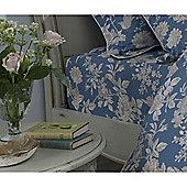 Kew Gardens Tea Rose Teal Fitted Sheet - Super King