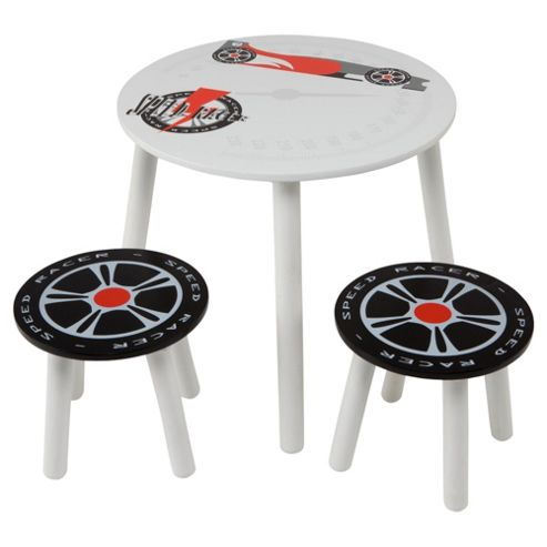Speed Racer Table and 2 Stools