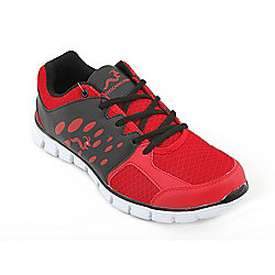 Woodworm Sports Ezr Mens Running Shoes / Trainers Red/Black Size 6