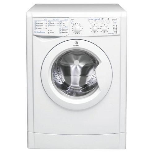 Indesit IWC61451 ECO Washing Machine, 6Kg Wash Load, 1400 RPM Spin, A+ Energy Rating, White