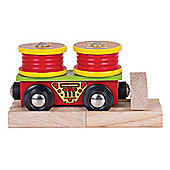 Bigjigs Rail BJT407 Cable Rolls Wagon
