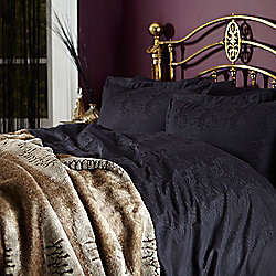Biba Royale Jacquard Black King Duvet Cover