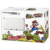 White Nintendo 3DS Xl with Super Mario 3D Land - Limited Edition