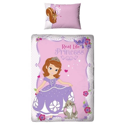 Disney Sophia 1St Amulet Single Bed Duvet Cover Set