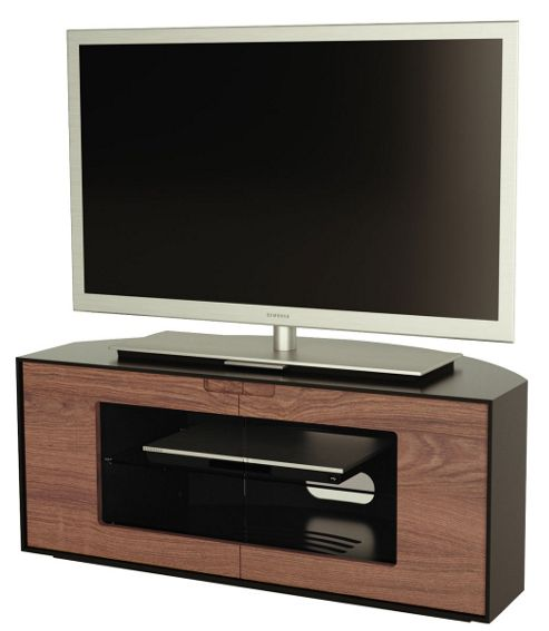 Alphason Contour Series Walnut and Black TV Stand for up to 47 inch