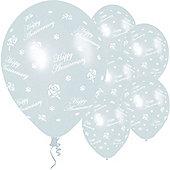 11' Anniversary Roses Pearl (25pk)