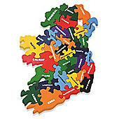 Alphabet Jigsaws Handcrafted Traditional Wooden Puzzle: Map of Ireland