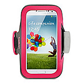 Belkin Slim Fit Neoprene Armband With Built In Screen Protection For Samsung S4 In Pink