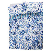 Tesco jacobean Floral duvet set DB blue