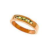 QP Jewellers 0.60ct Peridot Princess Prestige Ring in 14K Rose Gold