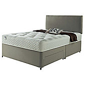 Silentnight Miracoil Luxury Ortho Tufted Non Storage King Size Divan Mink With Headboard