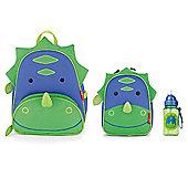 Skip Hop Zoo Pack, Lunch Bag and Straw Bottle Set Dinosaur