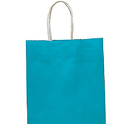 Turquoise Paper Party Bag - Medium 25cm