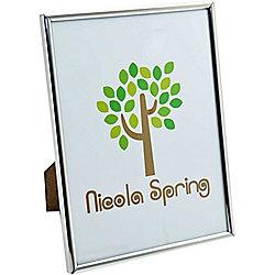 Nicola Spring Silver Metal 6x8 Photo Frame - Standing